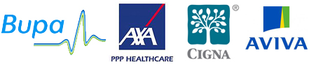 london physio bupa axa cigna insurance accepted