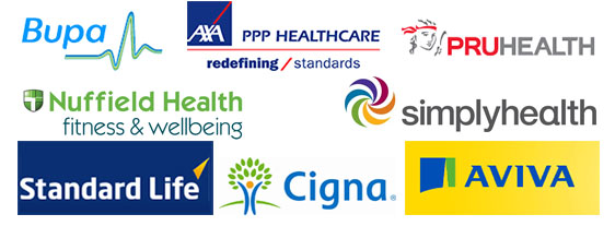 london physio bupa axa cigna insurance accepted